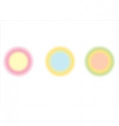 rings amp circlets vector image
