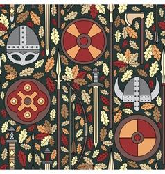 seamless viking pattern 05 vector image