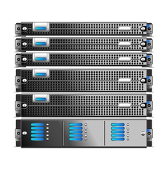 Servers Rack vector image