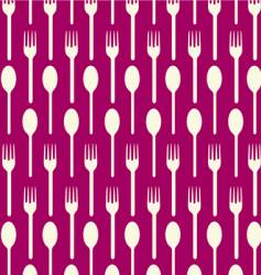 spoon fork vector image