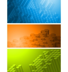 technical banners collection vector image vector image