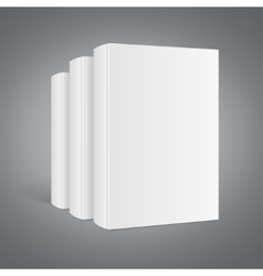 Template white blank book stack vector