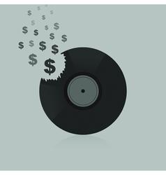 Dollar Vinyl vector image