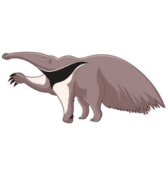 Cartoon smiling anteater vector