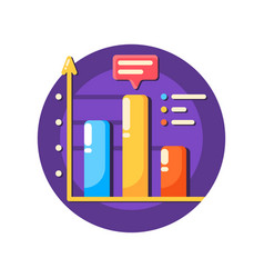 business data graph flat icon vector image