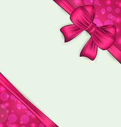 Elegant bow for present gift vector image
