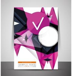 CMYK Business Corporate Flyer Template vector image