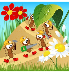ant builder with tool vector image