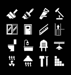Set icons repair and building vector