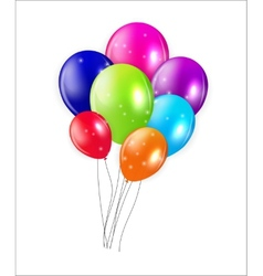 Set of colored balloons vector