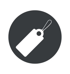 Monochrome round string tag icon vector