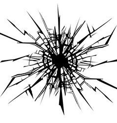 Cracks in the glass vector