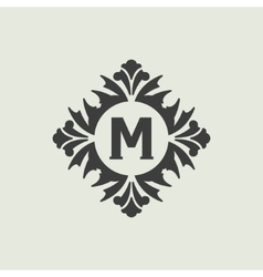 Stylish vintage monogram design vector