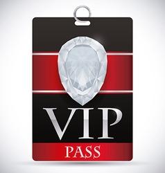VIP card design vector image