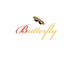 Sign butterfly vector