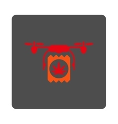 Pharmacy air copter delivery rounded square button vector