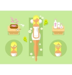 Woman spa design flat vector