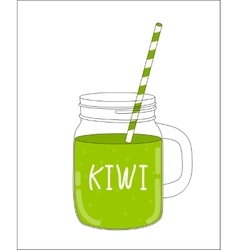 Fresh kiwi smoothie healthy food vector