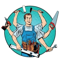 Multi-armed master repair professional vector