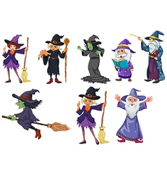 A group of witches vector image vector image