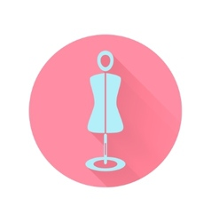 Abstract mannequin icon vector