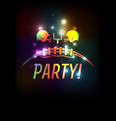 American football party template background vector