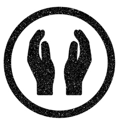 Applause hands grainy texture icon vector