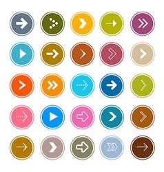 Arrows Set in Circles vector image vector image
