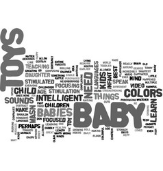 baby toys text word cloud concept vector image vector image