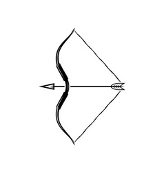 Bow weapon with arrow vector