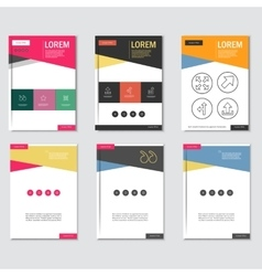 Business brochure design template in A4 size with vector image