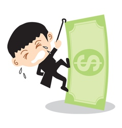 Businessman Climbing Banknote vector image vector image
