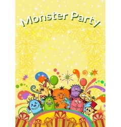 Cartoon Monsters Background vector image