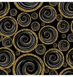 Classic seamless gold glitter pattern vector