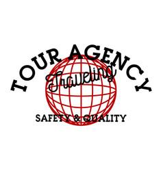 Color vintage tour agency emblem vector