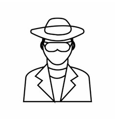 Detective icon outline style vector