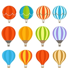 Different colorful air balloons vector image