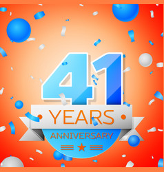 Forty one years anniversary celebration vector