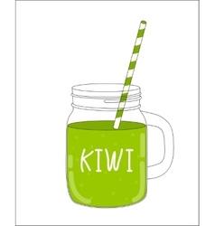 Fresh Kiwi Smoothie Healthy Food vector image
