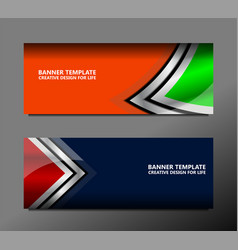 Geometric banner backgrounds vector