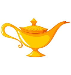 Golden lamp with the lid on vector image vector image