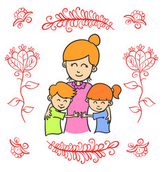 Happy mother day collection style vector