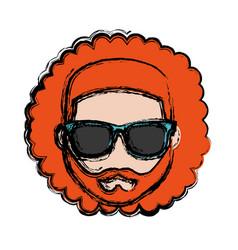 Hipster man icon vector