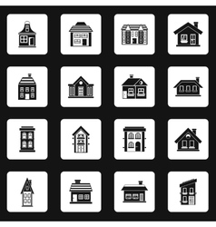 House icons set simple style vector image