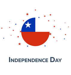 Independence day of chile patriotic banner vector