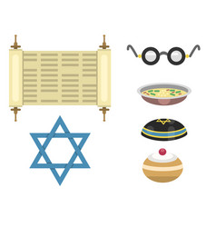 Judaism church traditional symbols isolated vector