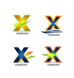 Letter x logo icon set vector