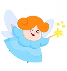 lovely fairy vector image vector image