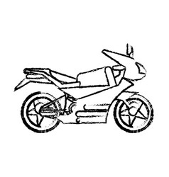 Motorcycle transport fast sketch vector