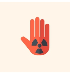 Nuclear flat icon vector